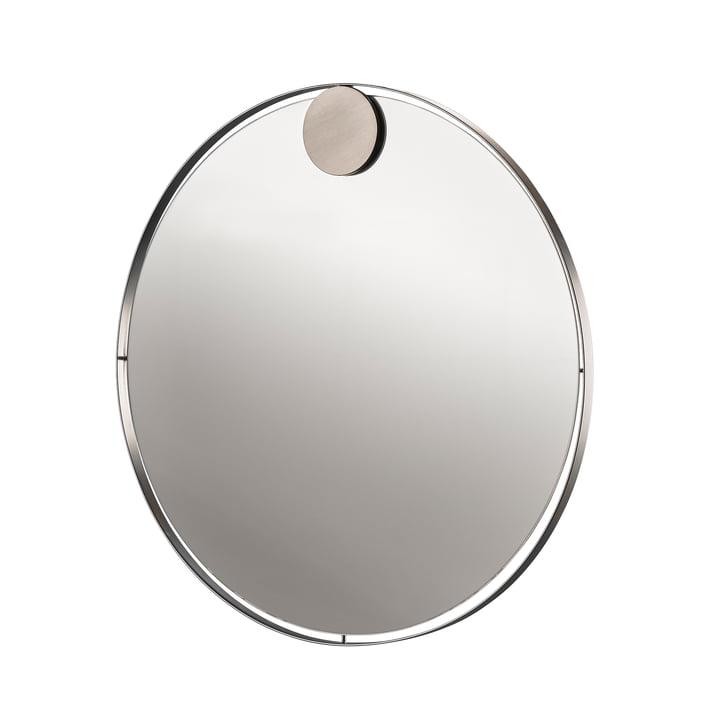Miroir à anneaux à accrocher Ø 50 cm en acier inoxydable de Zone Danemark