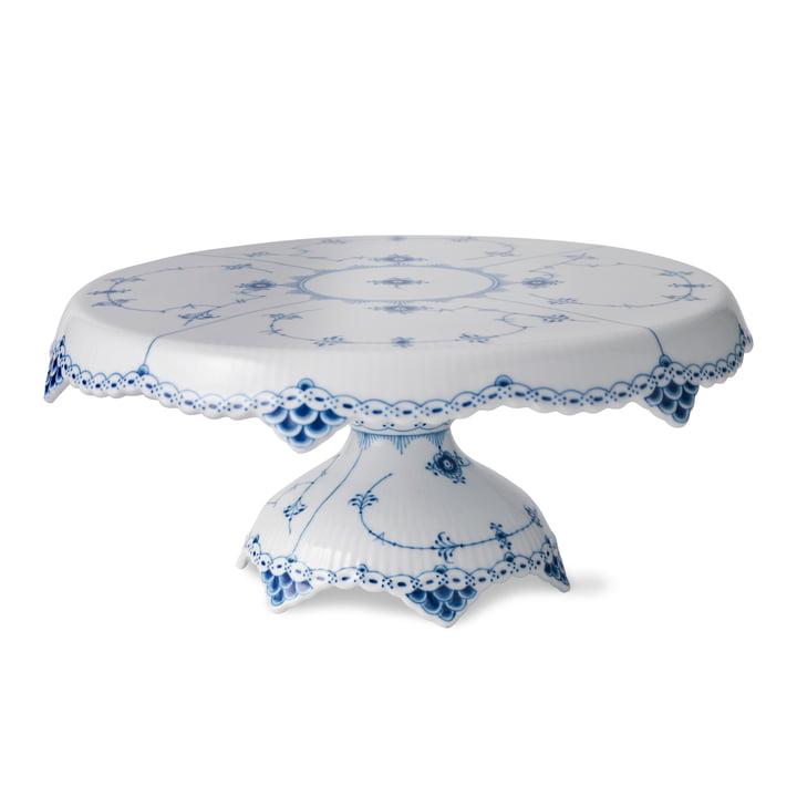 Assiette à gâteaux Musselmalet avec pied Ø 31 cm du Royal Copenhagen
