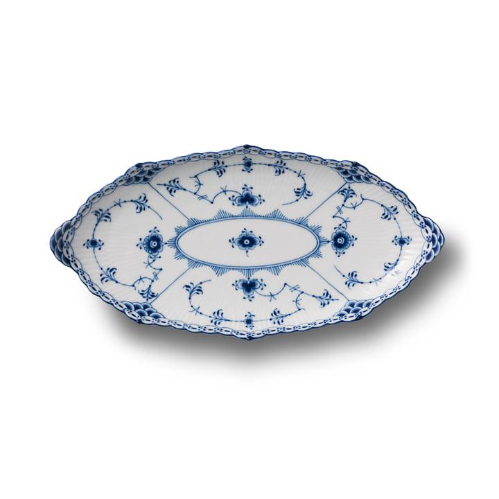 Assiette à moules ovale 24,5 cm du Royal Copenhagen en forme de demi-pointe