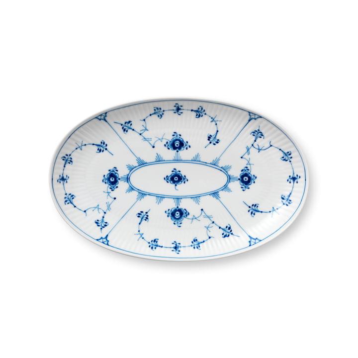 Assiette à moules côtelée ovale 23 cm du Royal Copenhagen