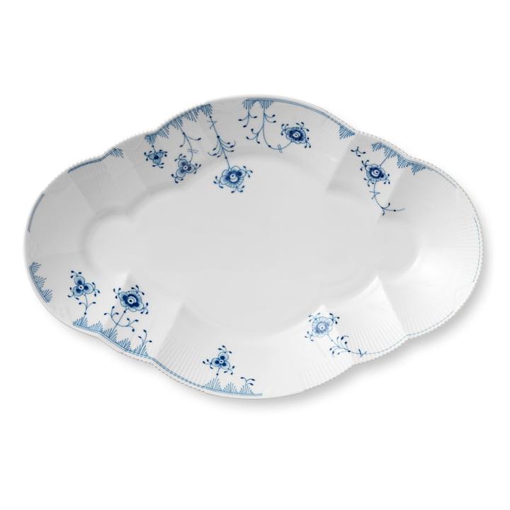 Elements Blue assiette de service 38,5 cm en blanc / bleu par Royal Copenhagen