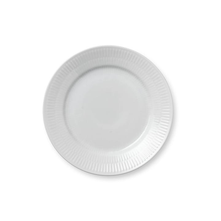 Assiette plate à côtes blanches, Ø 19 cm du Royal Copenhagen