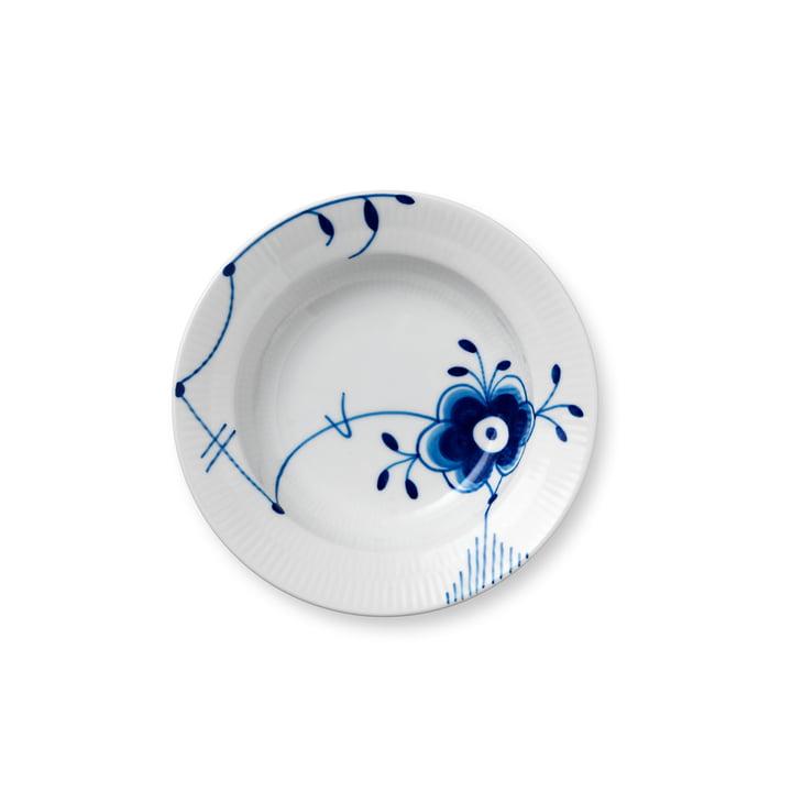 Mega Blue assiette à nervures profonde Ø 17 cm de Royal Copenhagen avec décor n° 6