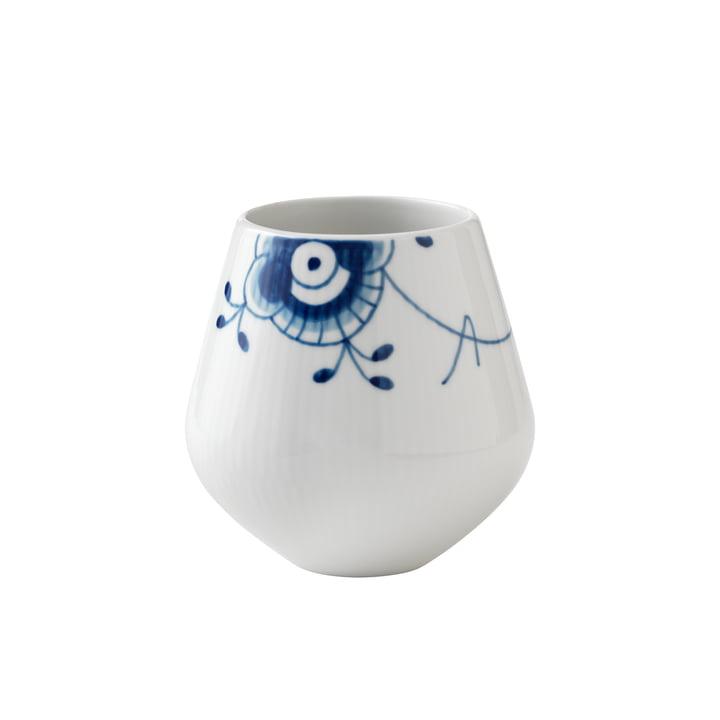 Méga vase bleu à côtes petit H 12 cm de Royal Copenhagen