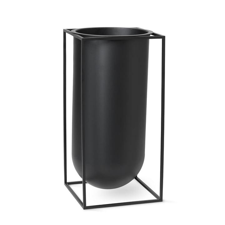 Vase Kubus Nolia de Lassen en noir