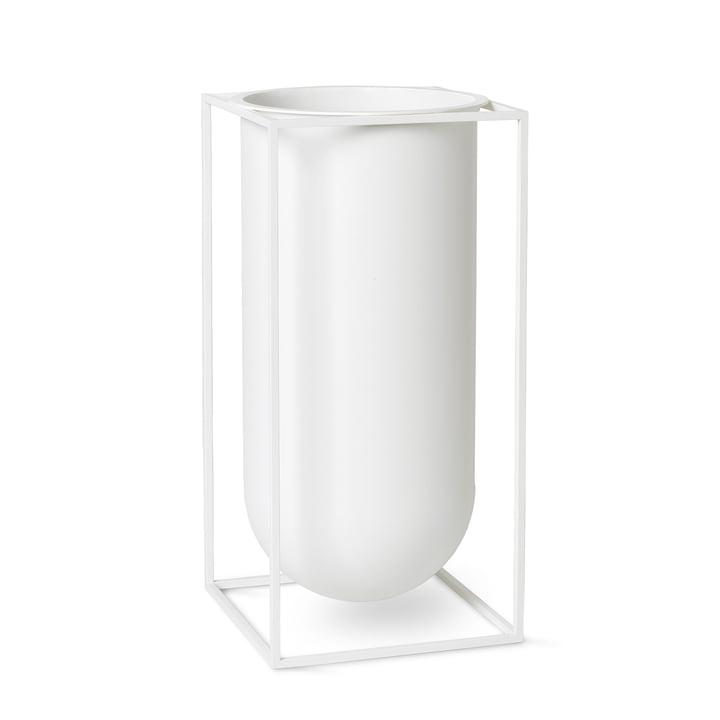 Vase Kubus Nolia de Lassen en blanc