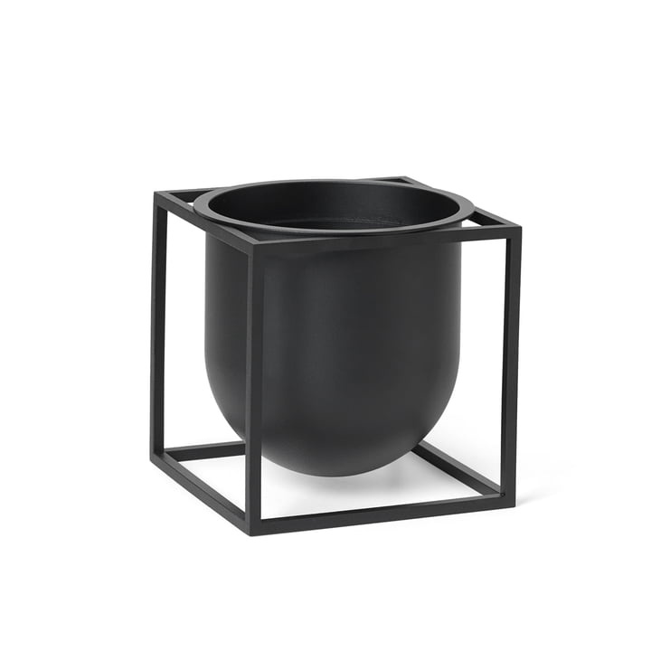 Pot de fleurs Kubus 14 de Lassen en noir