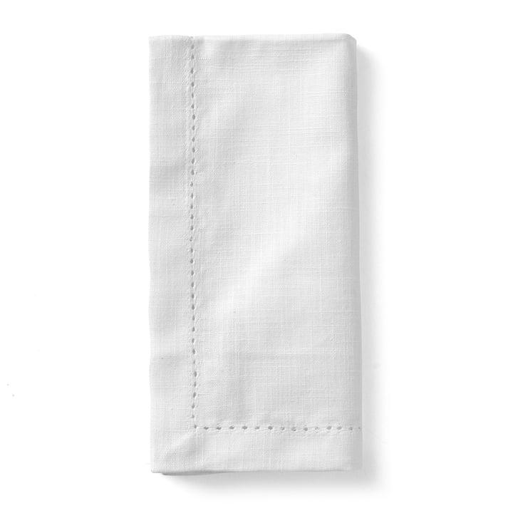 Serviettes en tissu Celebrate (lot de 4) 45 x 45 cm de Juna en blanc