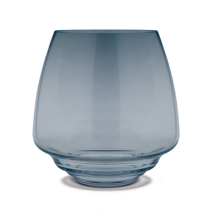 Bougeoir flow block Ø 18,5 cm de Holmegaard en bleu