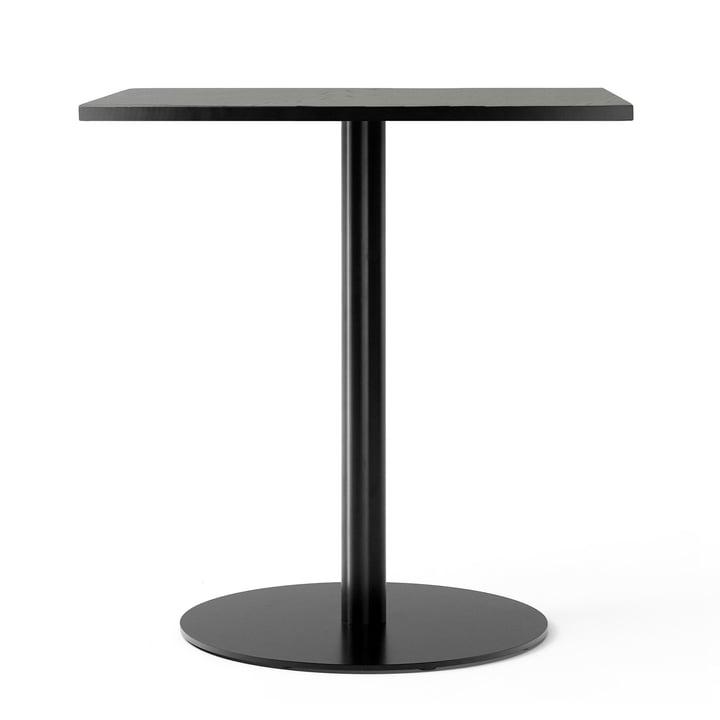 Table de bistro Harbour Column 70 x 60 cm en chêne laqué noir par Menu