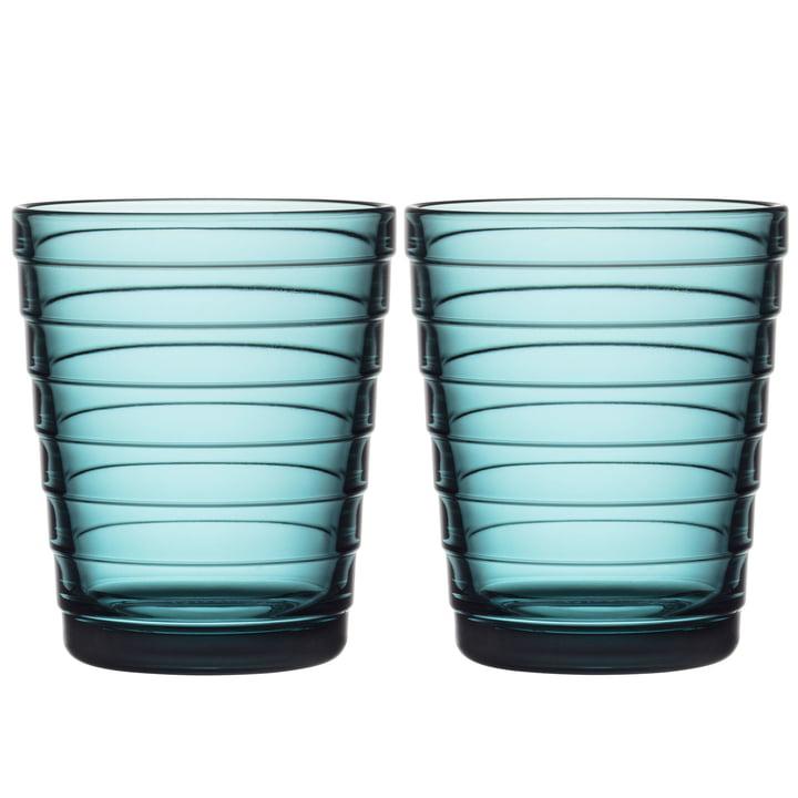 Aino Aalto Gobelet en verre 22 cl de Iittala couleur bleu marine (lot de 2)