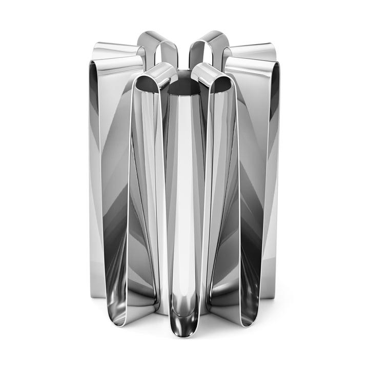 Fréquence Vase en acier inoxydable poli par Georg Jensen