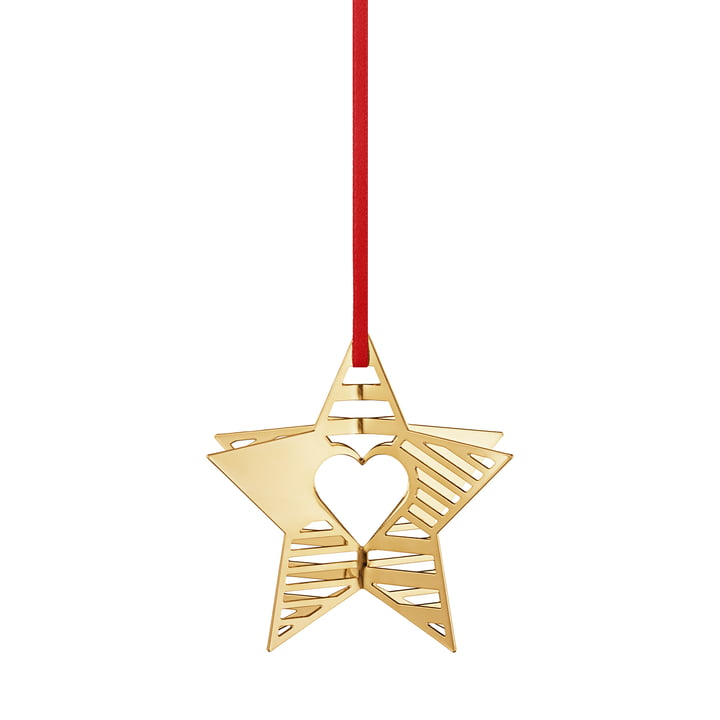 Ornement de Noël 2019 Étoile, or de Georg Jensen