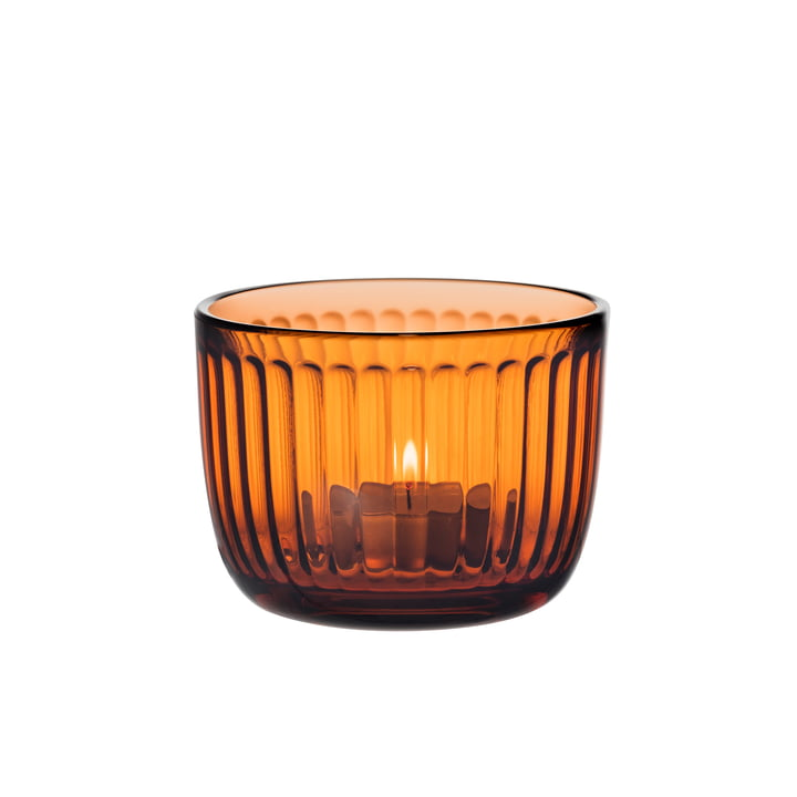bougeoir Raami d'Iittala en orange Séville