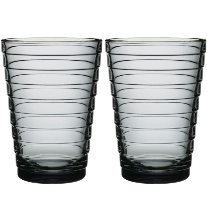 Aino Aalto verre à long drink 33 cl d'Iittala en gris (lot de 2)