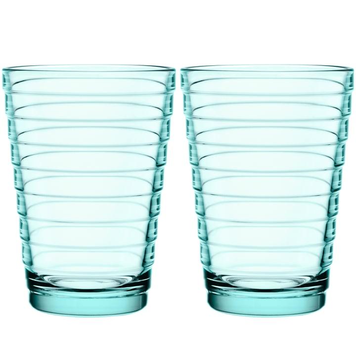 Verre à long drink Aino Aalto 33 cl d'Iittala en vert eau (lot de 2)