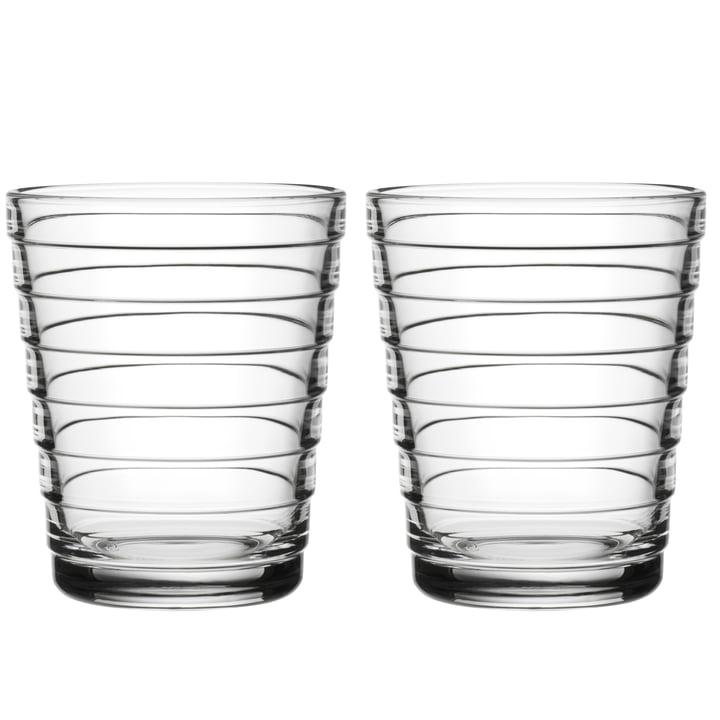 Aino Aalto Gobelet en verre 22 cl de Iittala in clear (lot de 2)