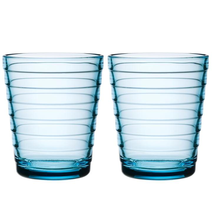 Tasse en verre Aino Aalto 22 cl d'Iittala en bleu clair (ensemble de 2)