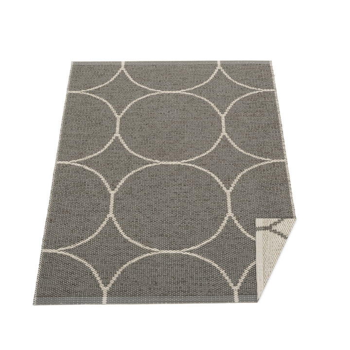 Tapis réversible Boo, 70 x 100 cm, anthracite / lin Pappelina