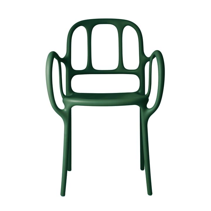 Chaise Milà de Magis en vert foncé