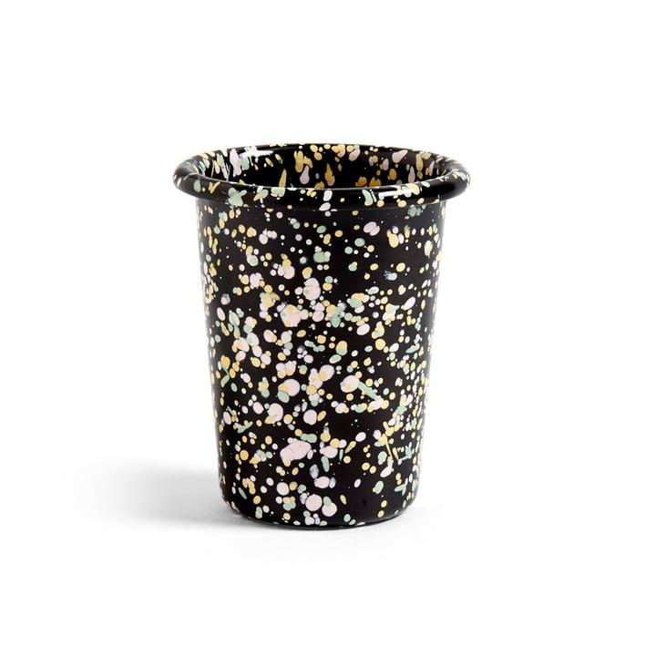 Emaille Mug de Hay en noir moucheté