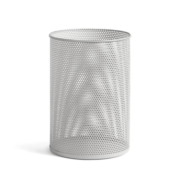 Bac perforé L, Ø 30,5 x H 44 cm par Foin en gris clair
