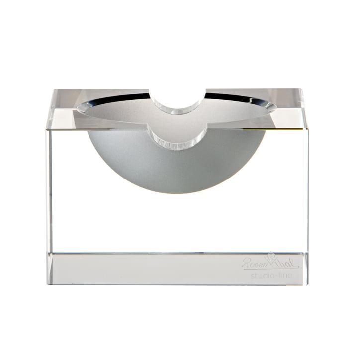Cendrier en verre feuilleté de Rosenthal en clair