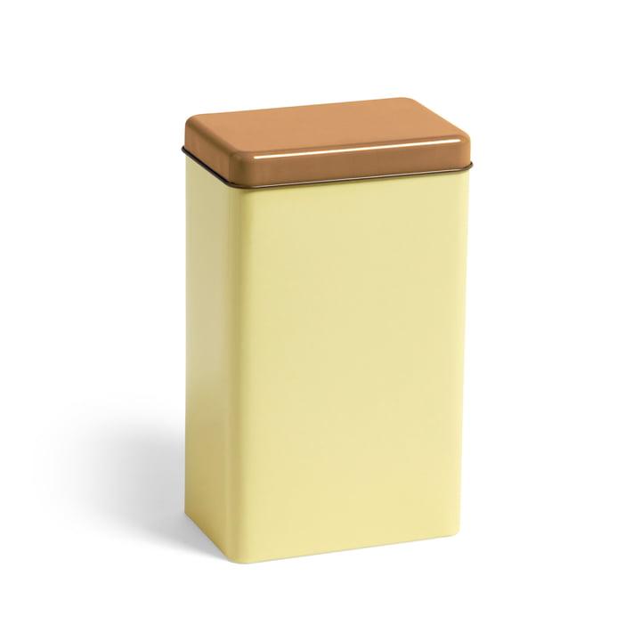 Boîte en fer-blanc par Sowden boîte de conservation par Hay en jaune