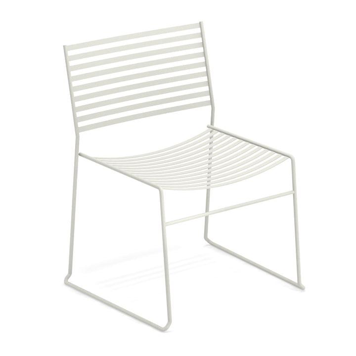 Chaise longue aérodynamique en blanc par Emu