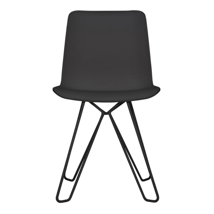 Chaise bergère d'objets de nos jours en noir