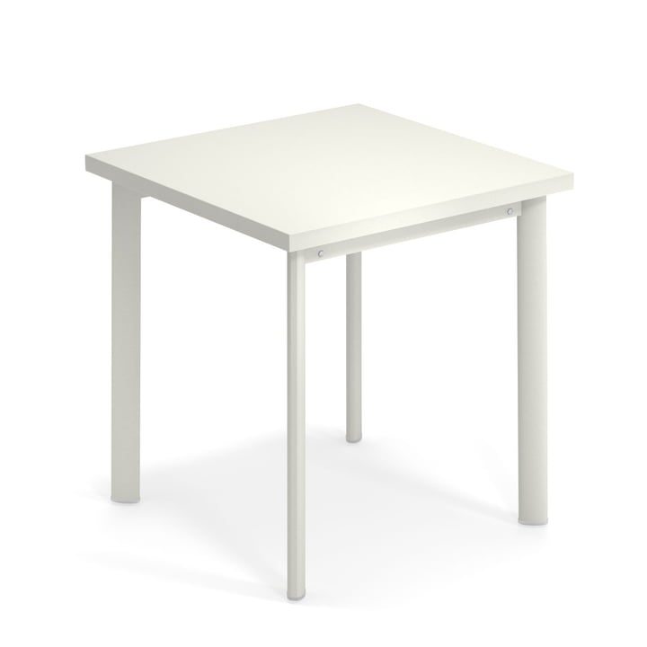 Table Star H 75 cm, 70 x 70 cm en blanc par Emu