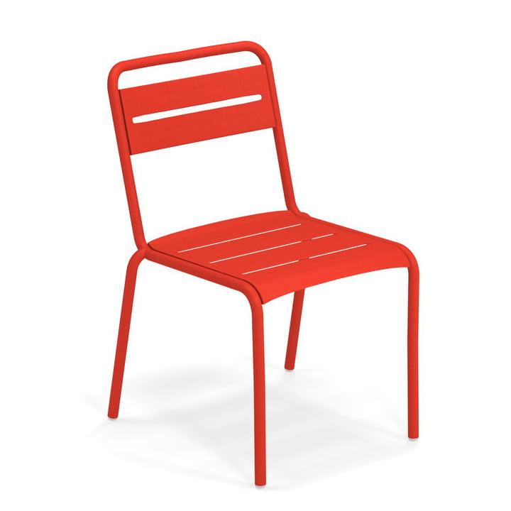 Chaise étoile en écarlate par Emu