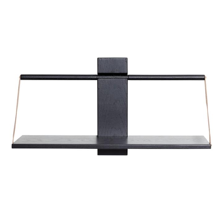 Tablette murale en bois 60 x 25 x H 32 cm par Andersen Furniture en noir
