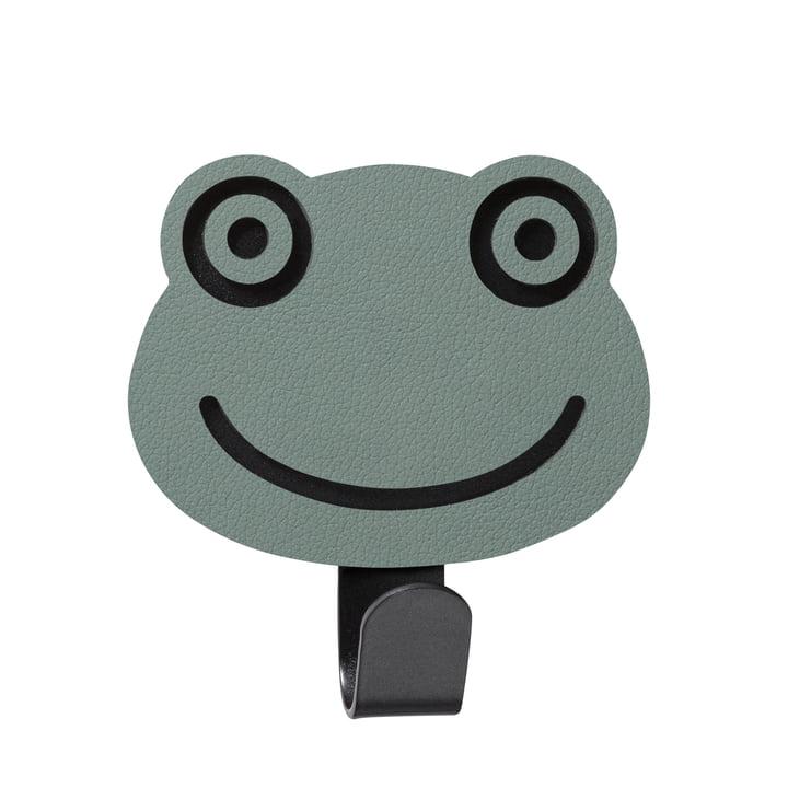 Crochet de grenouille murale pour enfants LindDNA en vert pastel Nupo