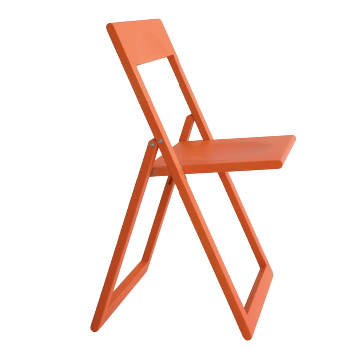 Chaise pliante Aviva en rouge corail de Magis