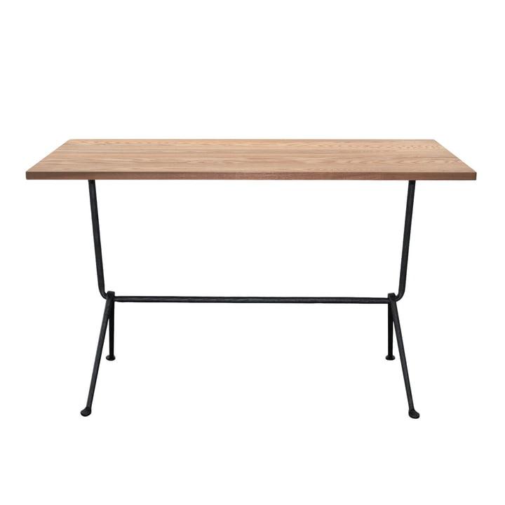 Table bistrot Officina H 72 cm, 80 x 55 cm en gris anthracite / noyer par Magis
