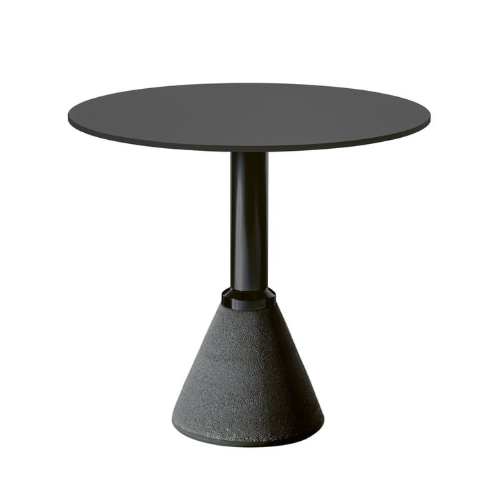 Table One Bistro Ø 79 cm en noir / noir par Magis