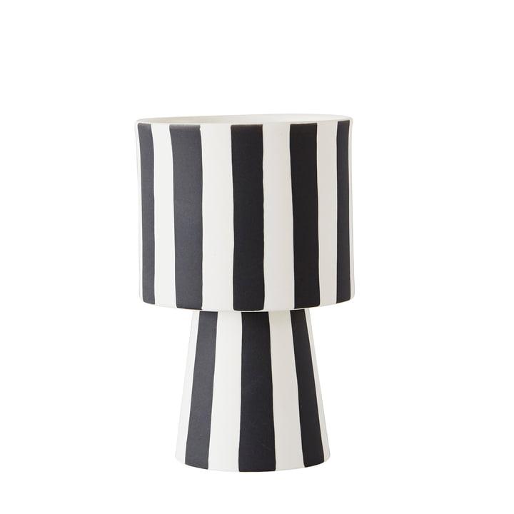 Toppu cachepot Ø 10 x H 15 cm de OYOY en noir / blanc