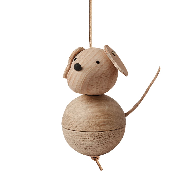 Figurine en bois Leika chien par OYOY en chêne / hêtre