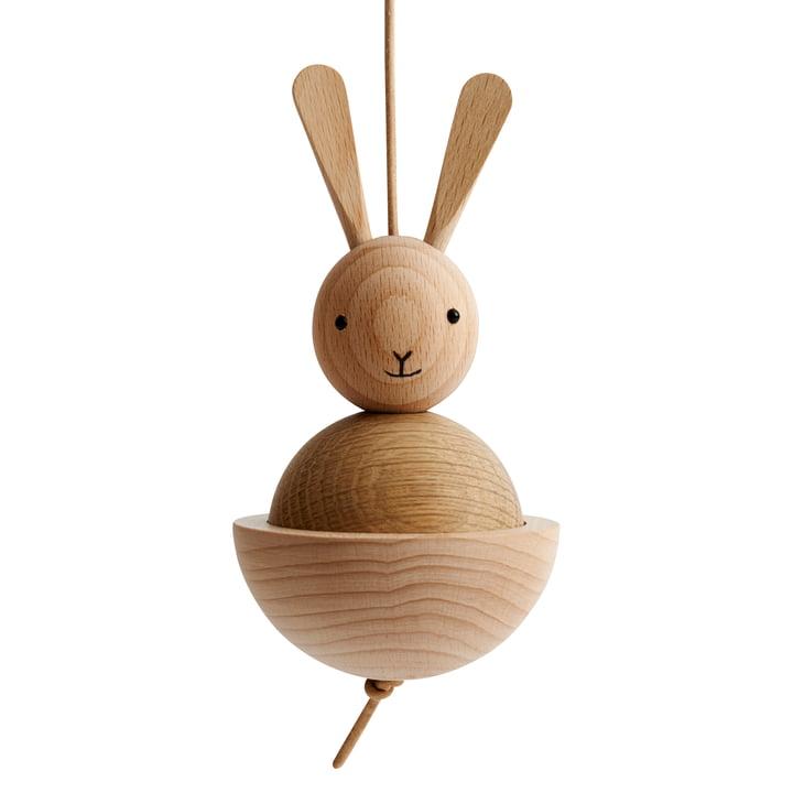 Figurine lièvre en bois de OYOY en chêne / hêtre