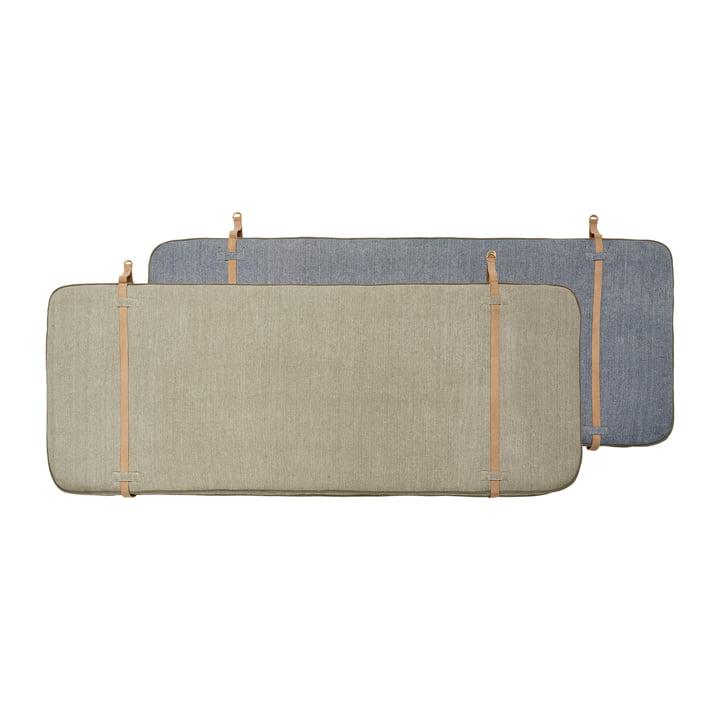 Tête de lit 180 cm de OYOY en beige / bleu foncé