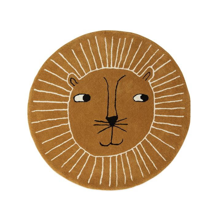 Tapis enfant lion Ø 95 cm de OYOY