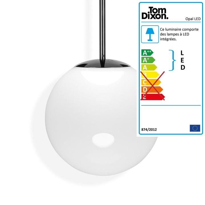 Opal Suspension LED Ø 50 cm par Tom Dixon