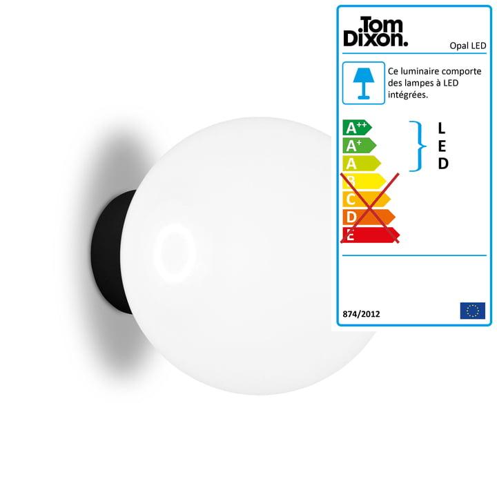Applique et plafonnier LED Opal Ø 25 cm par Tom Dixon