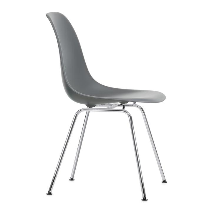 Eames Plastic Side Chair DSX by Vitra en chromé / gris granit
