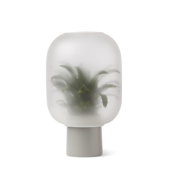 Vase Nebl grand, Ø 24,5 x H 30 cm en gris par Gejst