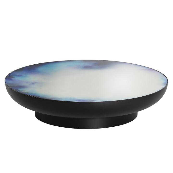 Table basse Francis Ø 110 x H 24 cm de Petite Friture en noir / bleu et violet