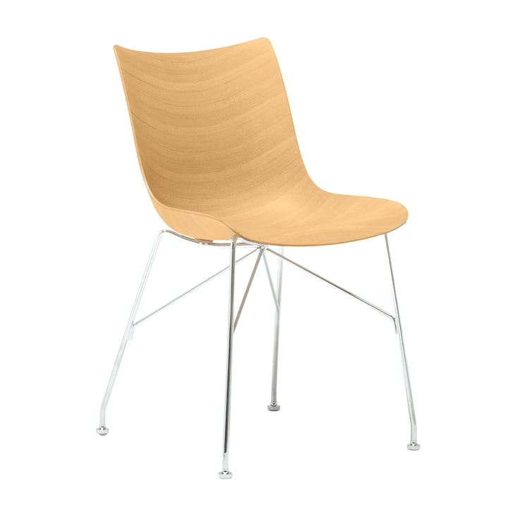 Chaise P/Wood de Kartell en chromé / brillant
