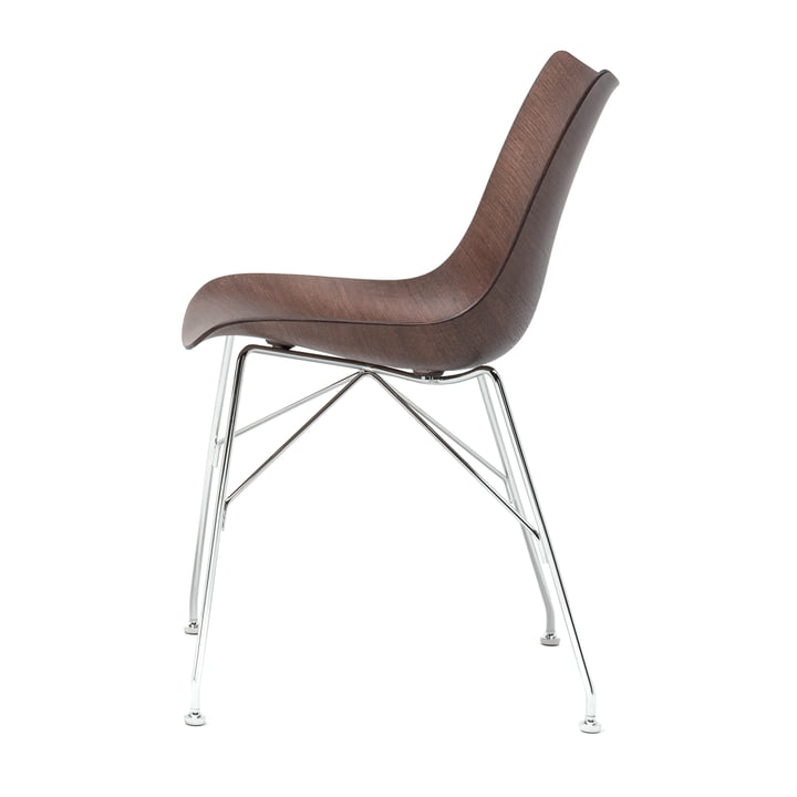 Chaise P/Wood de Kartell en chrome / foncé