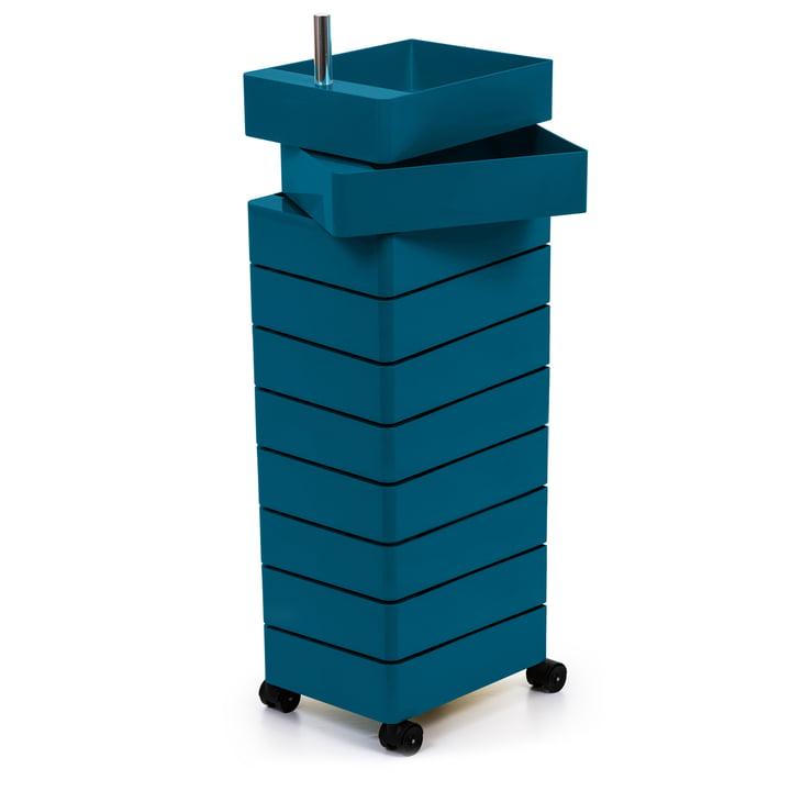 Conteneur 360° 10 compartiments en bleu par Magis